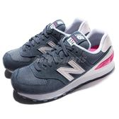 New Balance 復古慢跑鞋 NB 574 藍 粉紅 休閒鞋 女鞋【PUMP306】 WL574CNBB