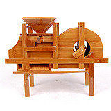 農用工具模型低碳環保竹制風鼓機風車 工藝品 家居擺件