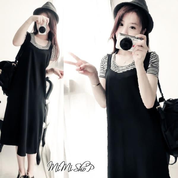 孕婦裝 MIMI別走【P52461】顧客推薦.開叉口袋造型造型背帶裙 連身裙 孕婦洋裝