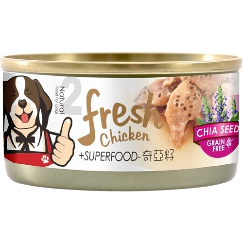【寵物王國】超級香去骨雞腿犬罐2號(香燉雞腿肉+奇亞籽)85g