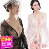 性感罩衫 白/黑/紅/深紫 香豔微醺 薄紗綁帶外罩 情趣調情睡衣 仙仙小舖