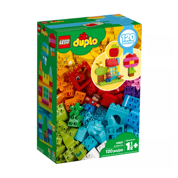10887【LEGO 樂高積木】 得寶Duplo 歡樂創意顆粒套裝 (120pcs)