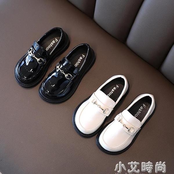 女童皮鞋2021春季新款洋氣公主鞋百搭兒童鞋子英倫風軟底黑色單鞋 小艾新品