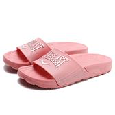 EVERLAST 粉紅 玫瑰金 LOGO 運動拖 拖鞋 女(布魯克林) 4025220242