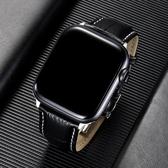 索柯真皮鱷魚紋蝴蝶不銹鋼扣apple watch5手表表帶42mm38商務蘋果iwatch1/2/3/4 【米家科技】