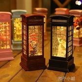 雪花水晶球音樂盒飄雪送女生孩公主情侶擺件八音盒小夜燈生日禮物扣子小鋪