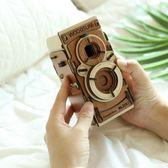 相機木質拼裝膠卷相機DIY組合相機可拍照創意生日禮品禮物