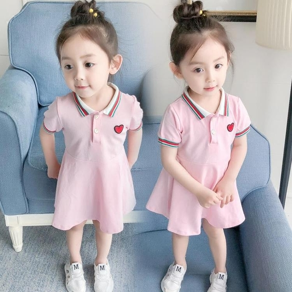 女寶寶洋裝夏裝 新款童裝女童短袖公主裙嬰兒裙子1-2-3-4歲