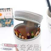 韓國可愛小清新PU卡通筆袋創意男女學生大容量簡約表情文具盒筆筒【奇貨居】