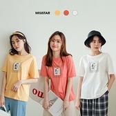 現貨-MIUSTAR NICE英字框人像棉質上衣(共3色)【NJ1026】