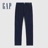 Gap男裝 商務風中腰直筒型休閒褲 810720-海軍藍