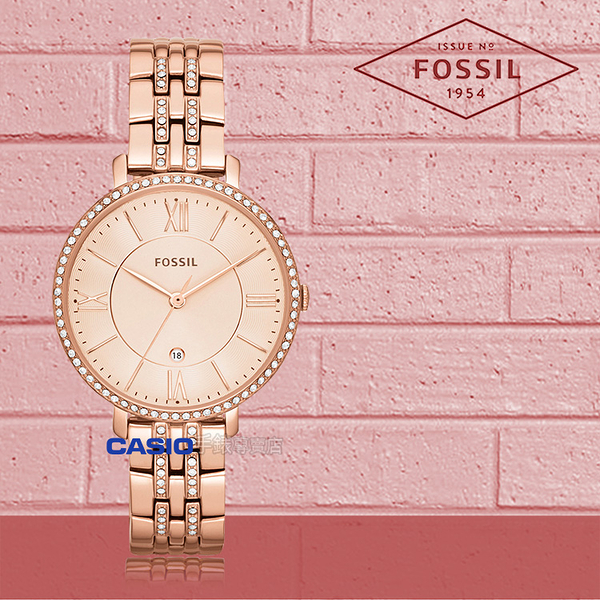 FOSSIL 手錶 專賣店 ES3546 女錶 石英錶 玫瑰金不鏽鋼錶帶  防水 強化玻璃鏡面