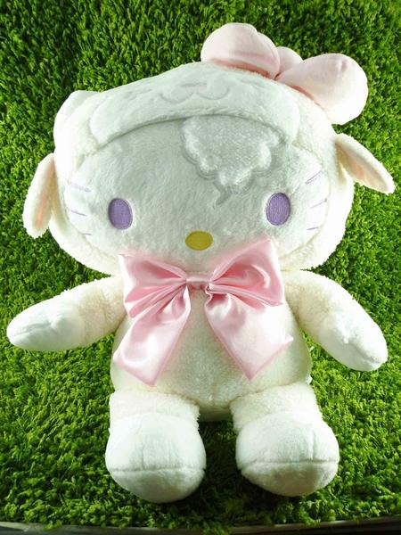 【震撼精品百貨】Hello Kitty 凱蒂貓~限量版絨毛娃娃-羊粉