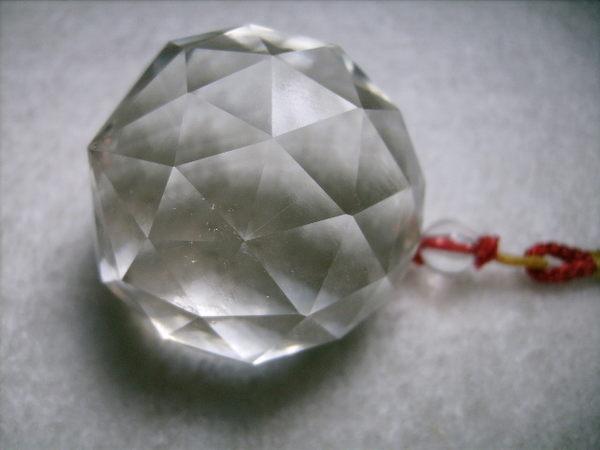 【Ruby工作坊】NO.1A奧地利4.1CM切割面白水晶球吊飾(加持祈福)基本款