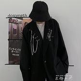 2021韓國潮流復古小眾別針裝飾西裝外套西服男女潮