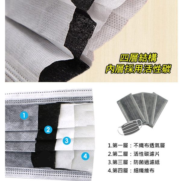 [10片] 改良四層活性碳成人口罩 獨立包裝 (10片/組)