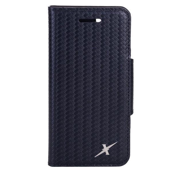Moxie X-Shell iPhone 7 / iPhone 8 真皮細格紋/編織紋 防電磁波手機套 / 紳士黑