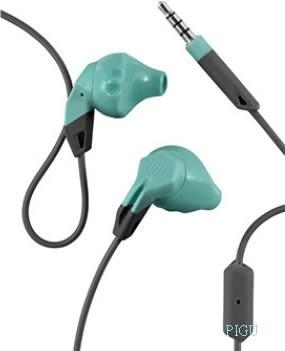 平廣 送收納袋 台灣公司貨 保固1年 JBL Grip 200 薄荷藍綠色 耳塞式 耳機 單鍵麥克風 運動款