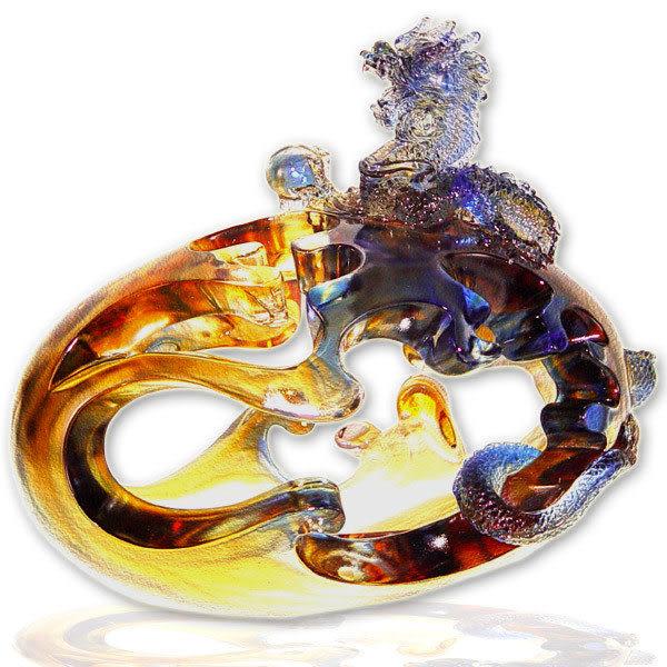 鹿港窯~居家開運水晶琉璃【勝券在握】擺飾  ◆附精美包裝◆免運費送到家