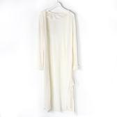 [titty&co]LIZ LISA針織長版罩衫(白)
