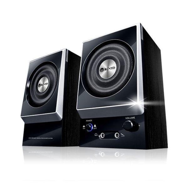 KY-1007 二件式木質立體擴大音箱 藍牙音箱 迷你音箱 多媒體音箱 可攜式音箱【迪特軍】