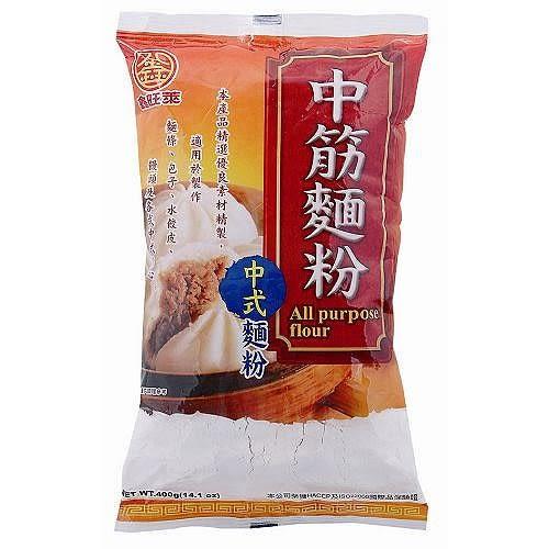 鑫旺萊中筋麵粉400g【愛買】