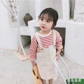 女童牛仔吊帶裙 時尚背帶裙小女孩裙子嬰兒童裙春裝新款 BF21169『寶貝兒童裝』