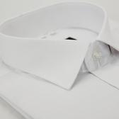 【金‧安德森】白色暗紋竹纖維窄版短袖襯衫