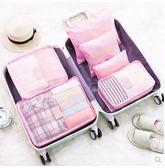 防水整理旅行必備收納袋6件套裝DL14297『黑色妹妹』