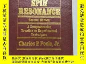 二手書博民逛書店Electron罕見Spin Resonance 電子自旋共振《