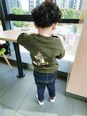 男童長袖衛衣 男女寶寶休閒上衣新款秋季童裝兒童字母衛衣潮【時尚家居館】