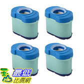 [106美國直購] 4 Durable Briggs & Stratton 276890, 792105, 4233, 5405H & 5405K Air Filter Cartridges