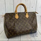 BRAND楓月 LOUIS VUITTON LV M41524 經典 原花SPEEDY35 手提包 小行李包