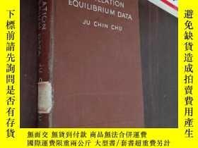 二手書博民逛書店distillation罕見equilibrium data 蒸餾平衡數據Y12880 JU CHIN C