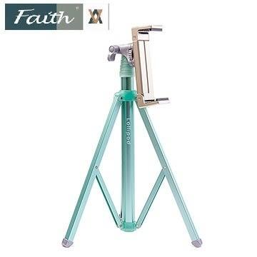 【聖影數位】Faith 輝馳 LP-TS1(Lollipod+夾具) 大型平板支撐腳架(含平板夾) 10吋平板適用 薄荷綠