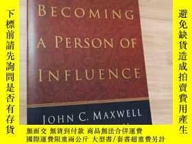 二手書博民逛書店BECOMING罕見A PERSON OF INFLUENCE(英文原版)Y19246 見圖 見圖 出版19