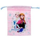 【KP】冰雪奇緣 華麗雪花束口袋 迪士尼 收納袋 正版日本進口授權 4901770305102
