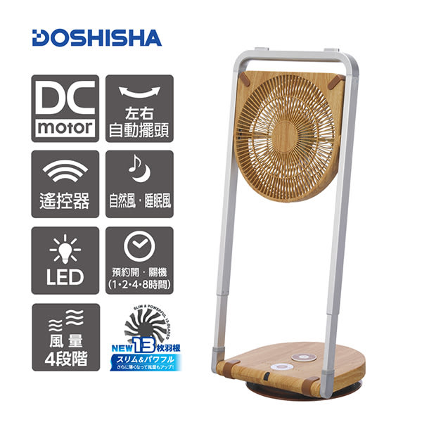 日本品牌DOSHISHA 摺疊風扇 FLS-252D NWD贈DOSHISHA 隨行膠囊扇 FTT-302U BL