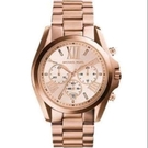 『Marc Jacobs旗艦店』MICHAEL KORS 大錶盤時尚玫瑰金鋼帶圓盤日期三眼手錶