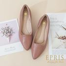 現貨 都會時尚 尖頭低跟鞋 知性女孩 女鞋品牌推薦 好走不磨腳 版型偏大 36-40 EPRIS艾佩絲-知性粉