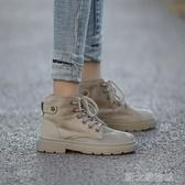 馬丁靴女新款馬丁靴女秋季百搭短靴ins潮鞋春秋款粗跟女靴帥氣單靴子  【快速出貨】