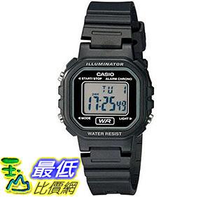 [美國直購] 手錶 Casio Womens LA20WH-1ACF Classic Digital Black Resin Watch
