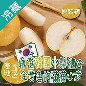 韓國梨禮盒7~8入/盒(約重3.6KG±10%/盒)【愛買冷藏】