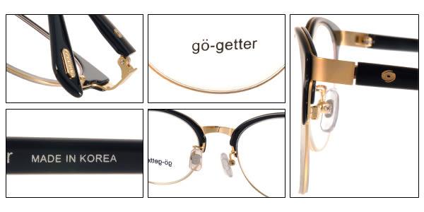Go-Getter 光學眼鏡 GO3009 C02 (黑-金) 簡約熱銷百搭半框 # 金橘眼鏡
