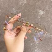 眼鏡框多邊形網紅眼鏡框小紅書同款不規則素顏瘦臉防輻射防藍光框架眼鏡  HOME 新品