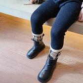 女童打底褲 撒銀工藝女童加厚一體絨打底褲冬裝新款兒童彈力修身保暖褲子-Ballet朵朵