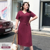 大碼女裝胖mm法式桔梗裙子2019新款小眾遮肚連身裙減齡夏款 衣普菈