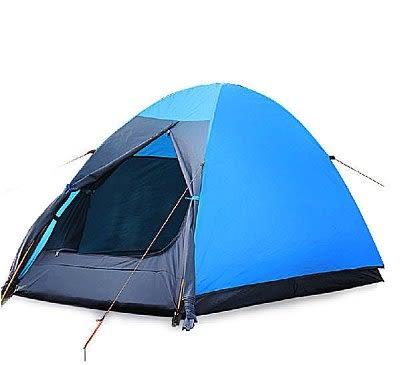 單人帳篷柯瑞普 雙層 防風防暴雨鋁桿【藍星居家】