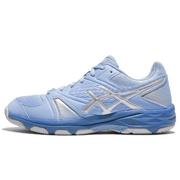 Asics 排羽球鞋 Gel-Domain 4 藍 銀 舒適緩震 高舒適性 女鞋 運動鞋【ACS】 E659Y3993