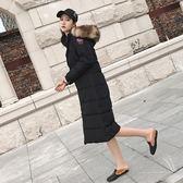 羽絨外套-時尚長款過膝保暖白鴨絨女連帽夾克2色73pl17[巴黎精品]